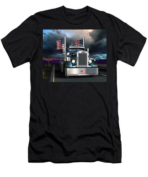 Patriotic Pete Men's T-Shirt (Slim Fit) by Stuart Swartz