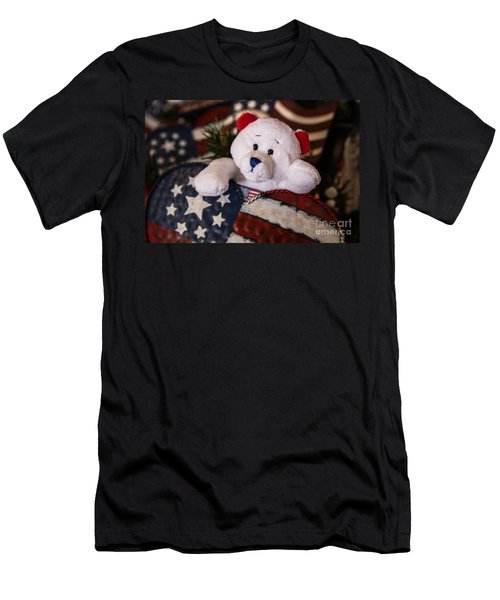 Patriotic Teddy Bear Men's T-Shirt (Athletic Fit)