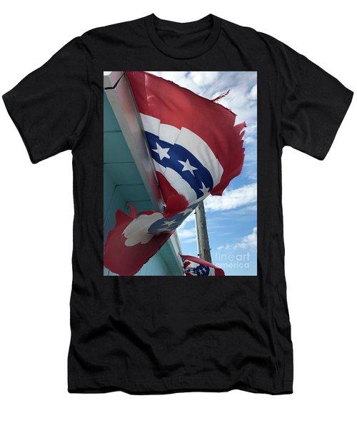Patriotic Wave Men's T-Shirt (Athletic Fit)