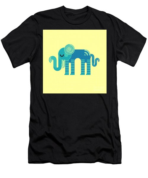Pattern Elephant Men's T-Shirt (Athletic Fit)