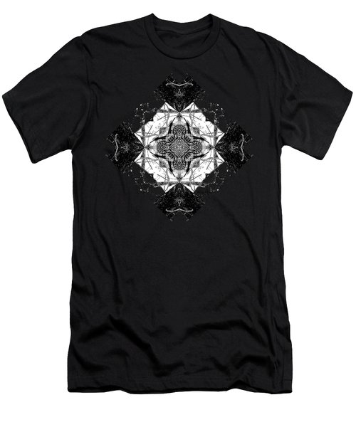 Pattern In Black White Men's T-Shirt (Athletic Fit)