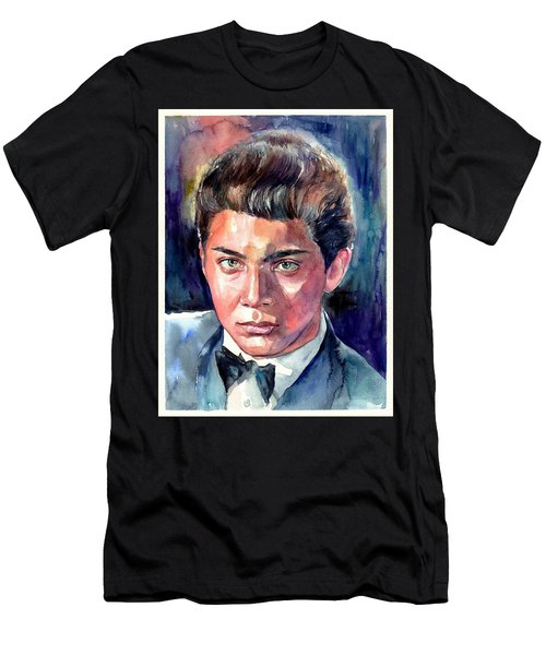 Paul Anka Young Portrait Men's T-Shirt (Athletic Fit)
