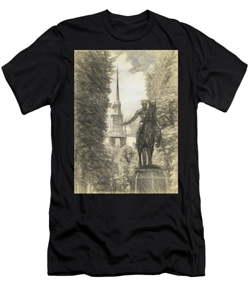 Paul Revere Rides Sketch Men's T-Shirt (Athletic Fit)