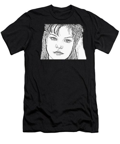 Pauley Perrette Men's T-Shirt (Athletic Fit)