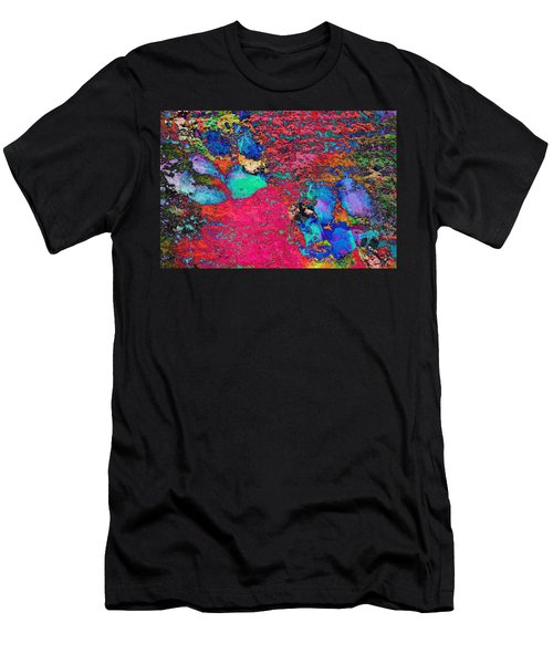 Paw Prints Colour Explosion Men's T-Shirt (Athletic Fit)