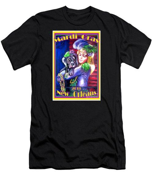 Pawdi Gras Men's T-Shirt (Athletic Fit)