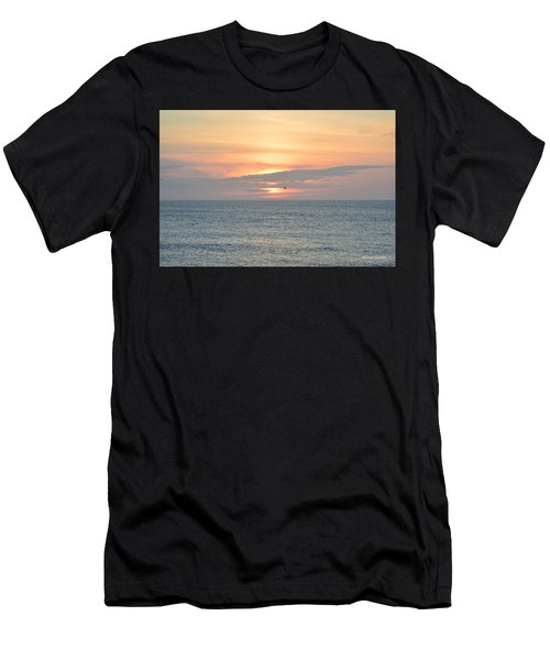 Men's T-Shirt (Athletic Fit) featuring the photograph Pea Island Sunrise by Barbara Ann Bell