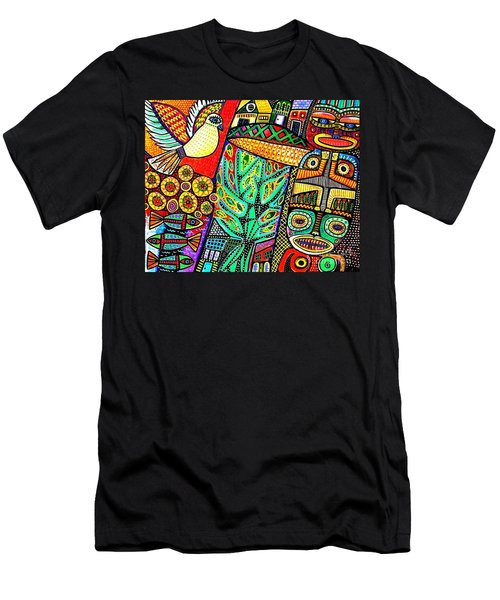 Peace Dove In Totem Forest Men's T-Shirt (Athletic Fit)