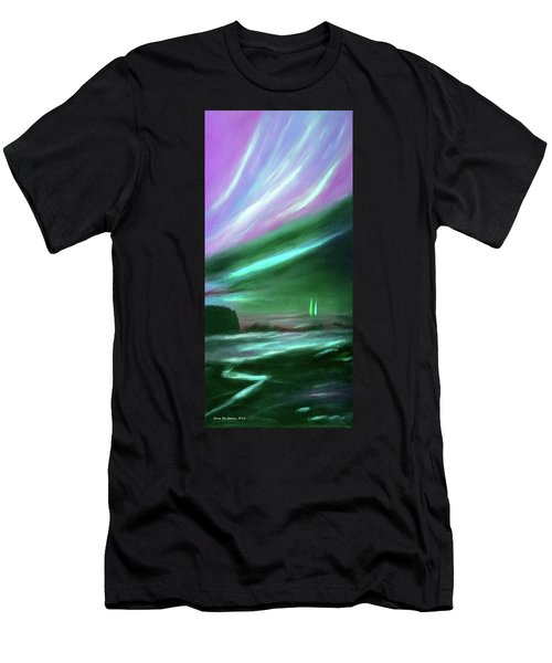 Peace Is Colorful 2 - Vertical Painting Men's T-Shirt (Athletic Fit)