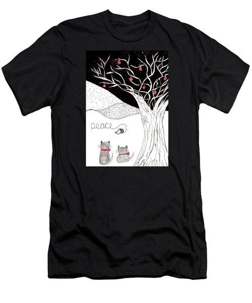 Peace Men's T-Shirt (Slim Fit) by Lou Belcher