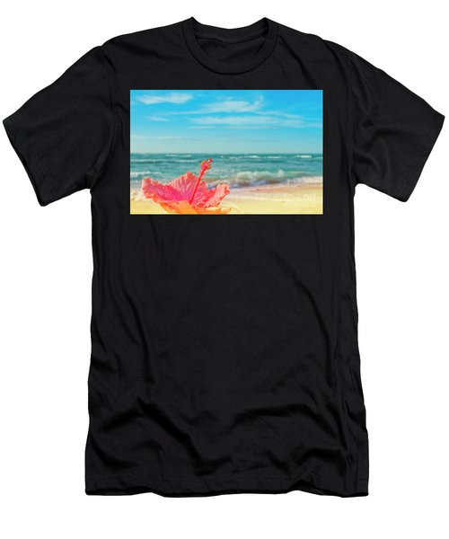 Men's T-Shirt (Athletic Fit) featuring the photograph Peace Love And Aloha by Sharon Mau