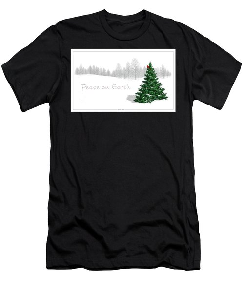 Peace On Earth Men's T-Shirt (Athletic Fit)