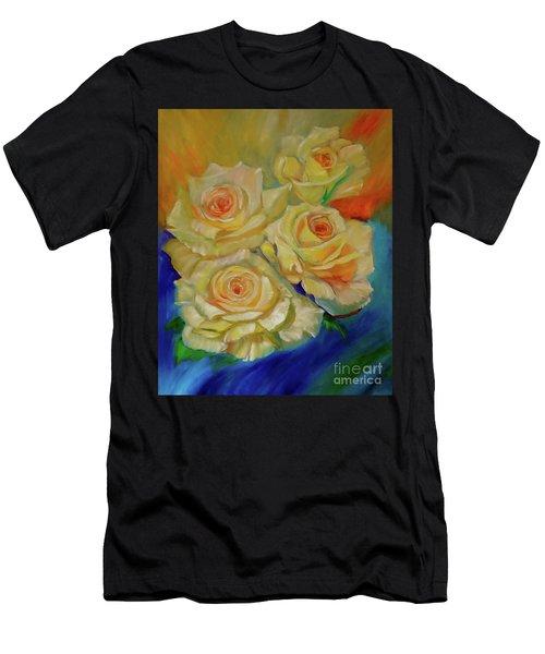 Peace Roses Men's T-Shirt (Athletic Fit)
