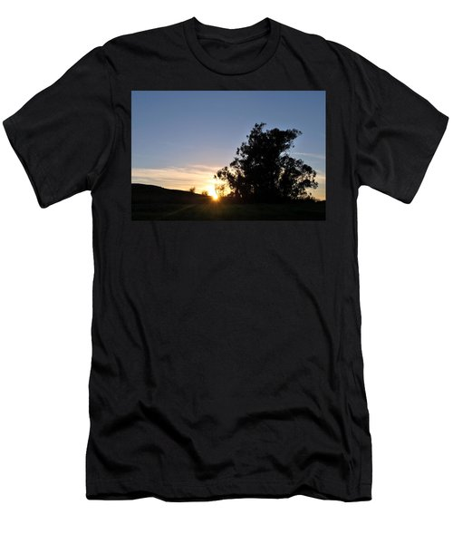 Men's T-Shirt (Athletic Fit) featuring the photograph Peaceful Country Sunset  by Matt Harang