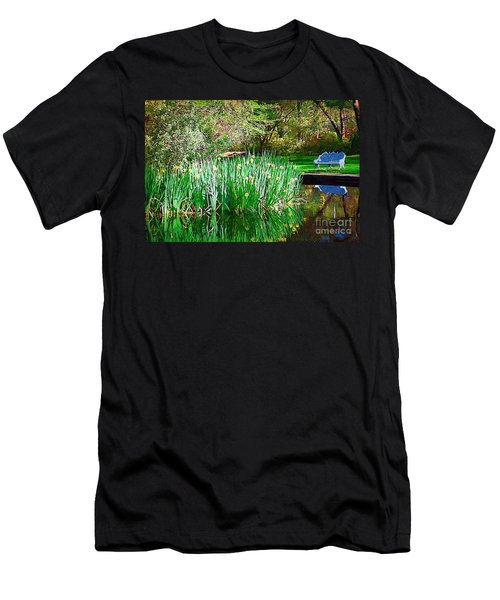 Men's T-Shirt (Slim Fit) featuring the photograph Peaceful by Donna Bentley
