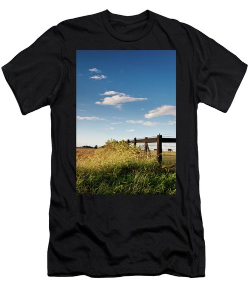 Peaceful Grazing Men's T-Shirt (Slim Fit) by David Sutton