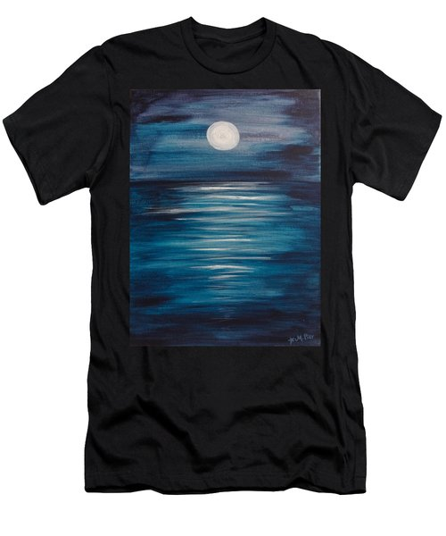 Peaceful Moon At Sea Men's T-Shirt (Athletic Fit)
