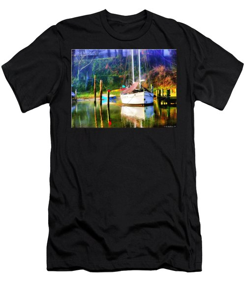 Men's T-Shirt (Slim Fit) featuring the photograph Peaceful Morning In The Cove by Brian Wallace