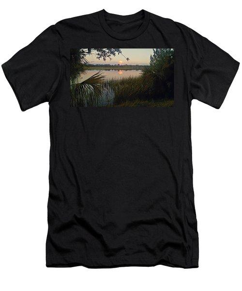 Peaceful Palmettos Men's T-Shirt (Athletic Fit)