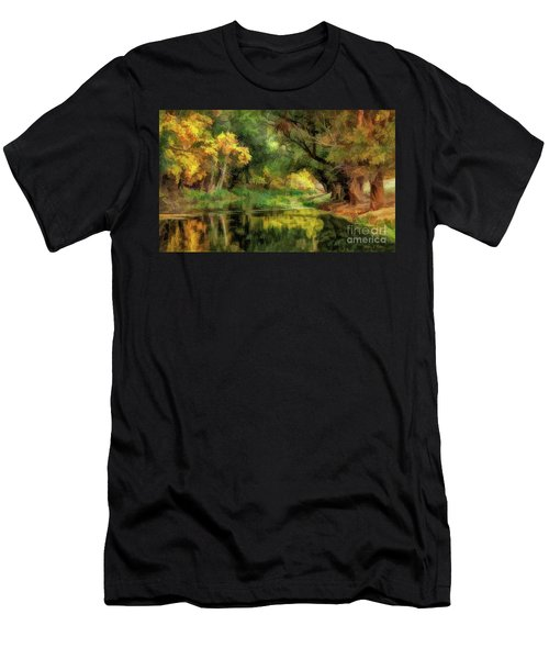 Peaceful Pond In The Trees Men's T-Shirt (Athletic Fit)