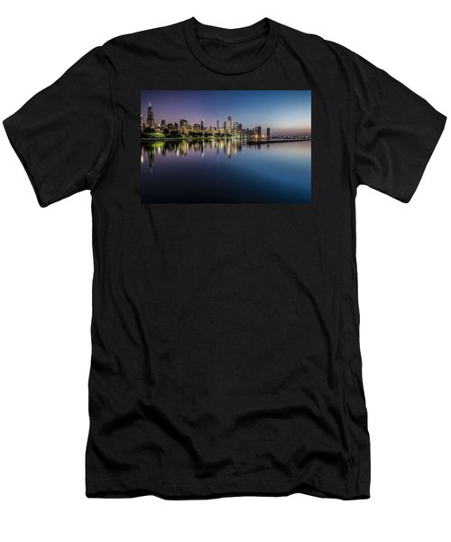 Peaceful Summer Dawn Scene On Chicago's Lakefront Men's T-Shirt (Athletic Fit)