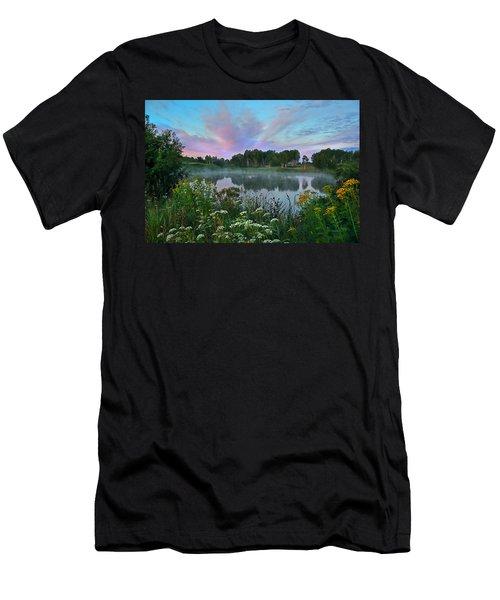 Peaceful Sunrise At Lake. Altai Men's T-Shirt (Athletic Fit)