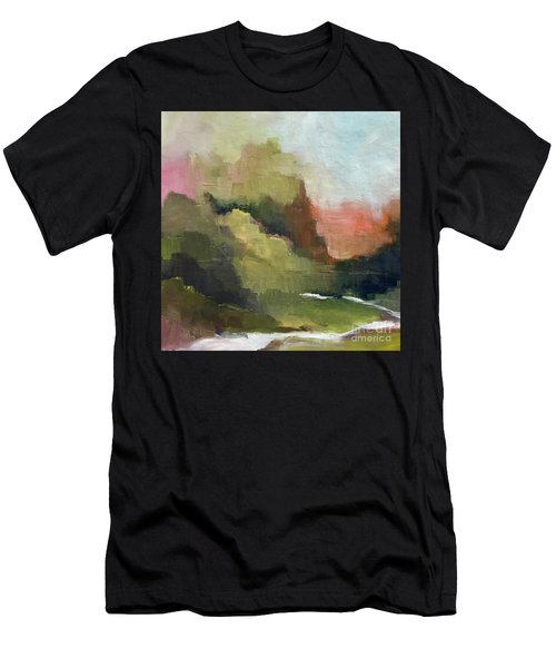 Men's T-Shirt (Athletic Fit) featuring the painting Peaceful Valley by Michelle Abrams