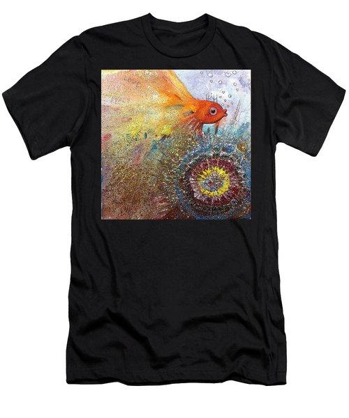 Peace,love,light  Men's T-Shirt (Athletic Fit)
