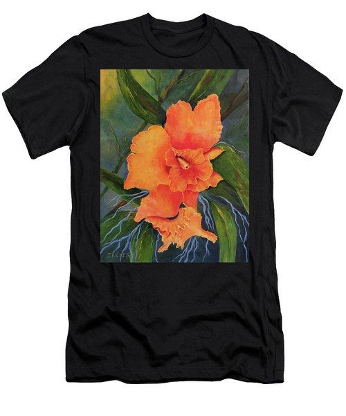 Peach  Blush Orchid Men's T-Shirt (Athletic Fit)