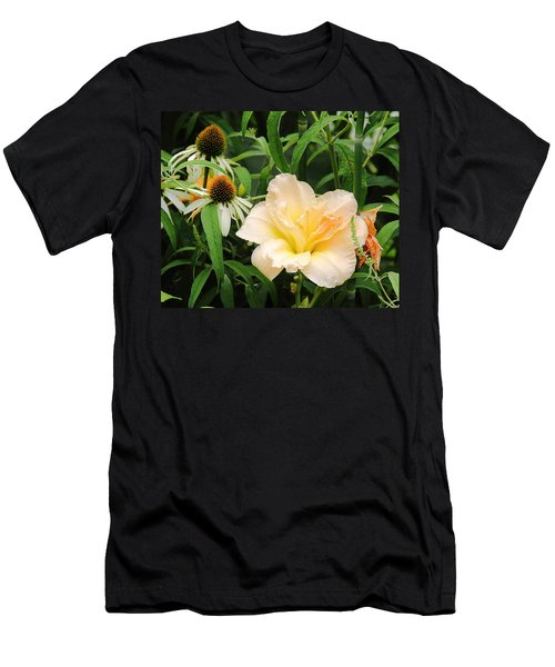 Peach Day Lily Men's T-Shirt (Athletic Fit)