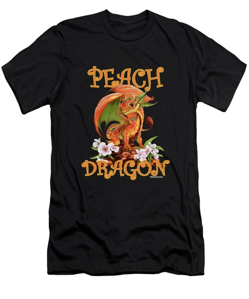 Peach Dragon Men's T-Shirt (Athletic Fit)