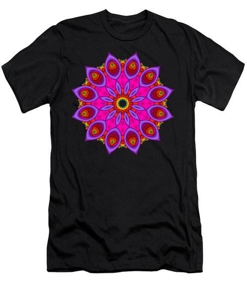 Peacock Fractal Flower II Men's T-Shirt (Athletic Fit)