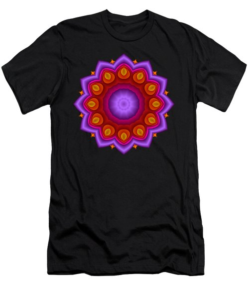 Peacock Fractal Flower Pretty Petals Men's T-Shirt (Athletic Fit)