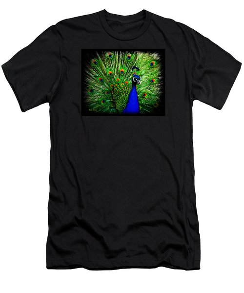 Peacock Paradise Men's T-Shirt (Athletic Fit)