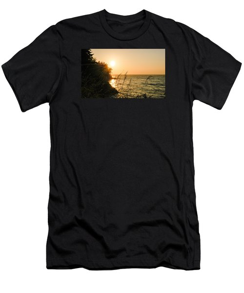 Men's T-Shirt (Slim Fit) featuring the photograph Peaking Sunset by Monte Stevens