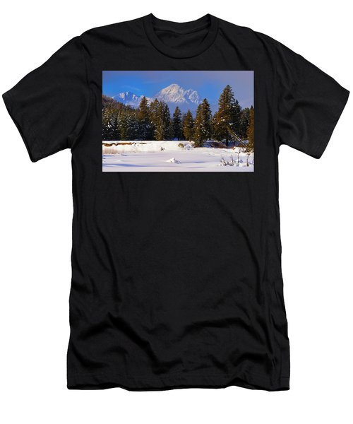 Peaking Through Men's T-Shirt (Athletic Fit)