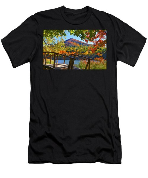 Peaks Of Otter Bridge Men's T-Shirt (Athletic Fit)