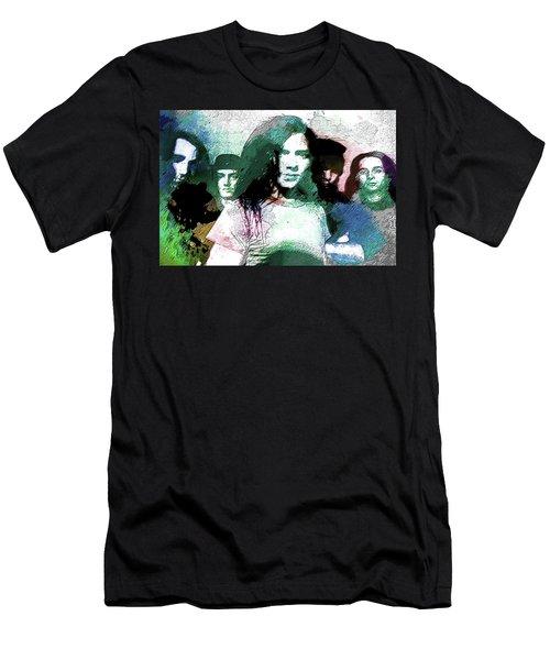 Pearl Jam Portrait  Men's T-Shirt (Slim Fit) by Enki Art