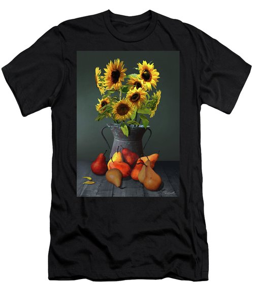 Pears And Sunflowers Men's T-Shirt (Athletic Fit)