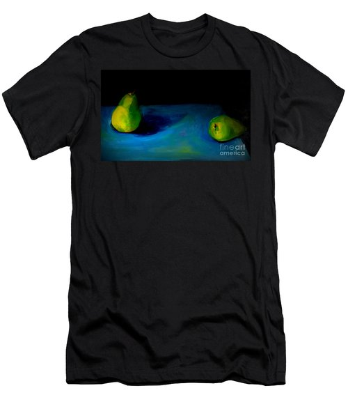 Men's T-Shirt (Slim Fit) featuring the painting Pears Unpaired by Daun Soden-Greene