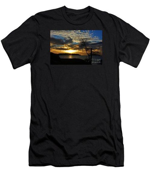 Pebbles  Beach Sechelt  Men's T-Shirt (Athletic Fit)