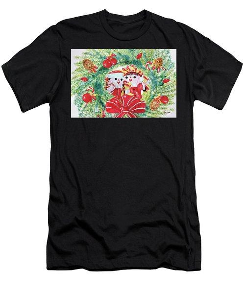 Peek-a-boo Christmas Men's T-Shirt (Athletic Fit)