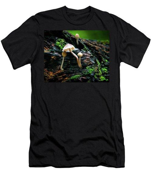 Peek-a-boo Mushroom Men's T-Shirt (Athletic Fit)