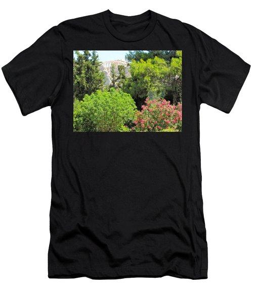 Peek Of The Parthenon Men's T-Shirt (Athletic Fit)