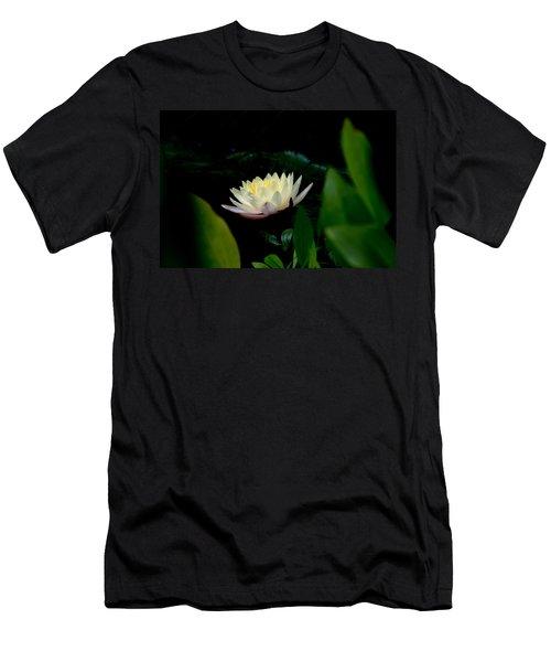 Peekaboo Lemon Water Lily Men's T-Shirt (Athletic Fit)