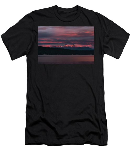 Men's T-Shirt (Slim Fit) featuring the photograph Peekaboo Sunrise by Jan Davies