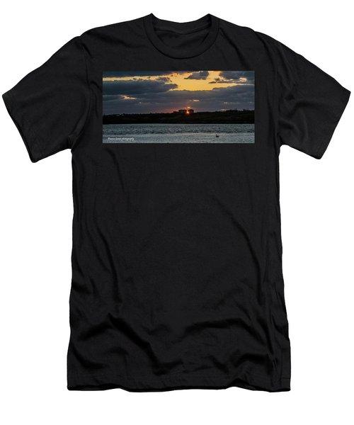 Peeking Between The Condos Men's T-Shirt (Slim Fit) by Nance Larson