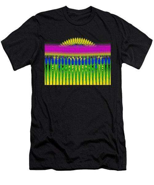 Peeking Sun Abstract By Kaye Menner Men's T-Shirt (Athletic Fit)
