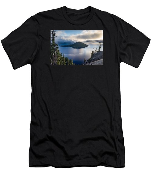 Peering At The Wizard Men's T-Shirt (Slim Fit) by Greg Nyquist