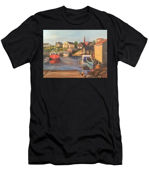 Peggy 's Cove, Halifax Nova Scotia, Canada  Men's T-Shirt (Athletic Fit)